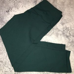 90 Degree Olive Cropped Leggings high waisted